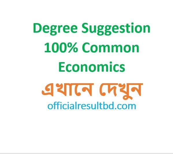 Degree 1st Year Economics Suggestion 2019