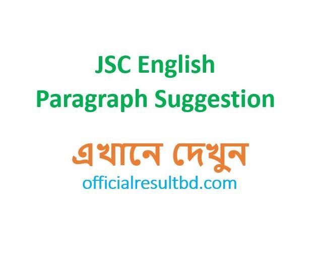 JSC English Paragraph Suggestion 2019