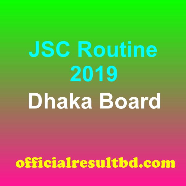 JSC Routine Dhaka Board