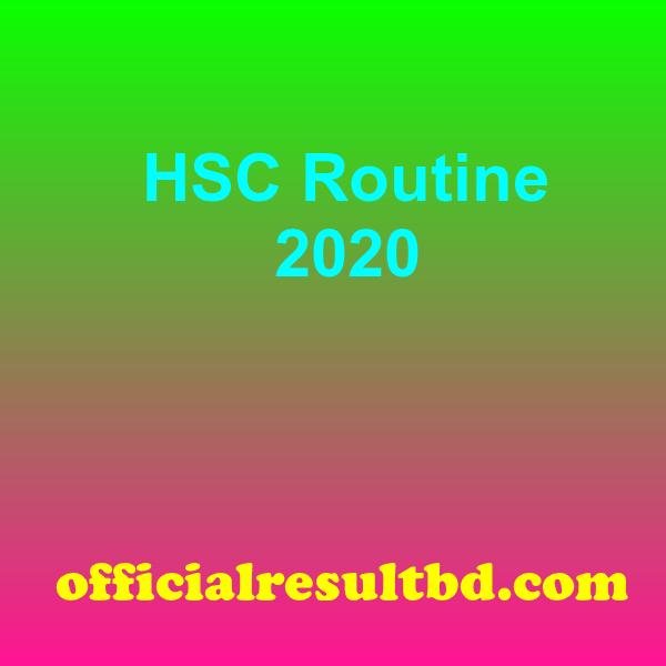 HSC Routine 2020