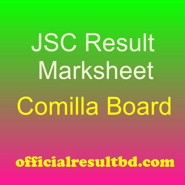 JSC Result Comilla Board Marksheet 2019