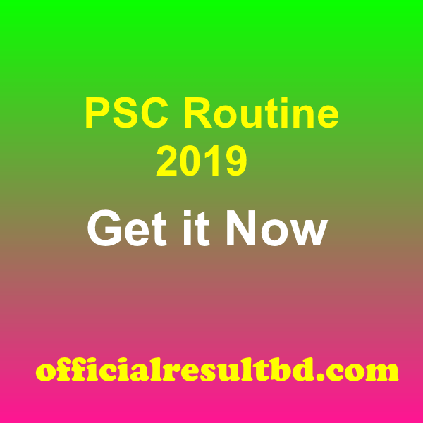 PSC Routine 2019 PDF Download