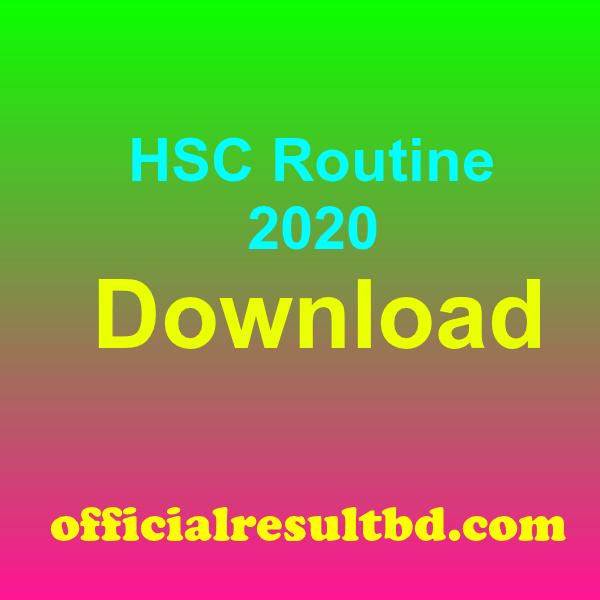 HSC Routine 2020 Dhaka Board