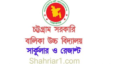 Chittagong Govt Girls High School Admission Circular 2021 & Lottery Result 2021 PDF