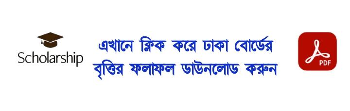 HSC Scholarship Result 2021 Dhaka Board