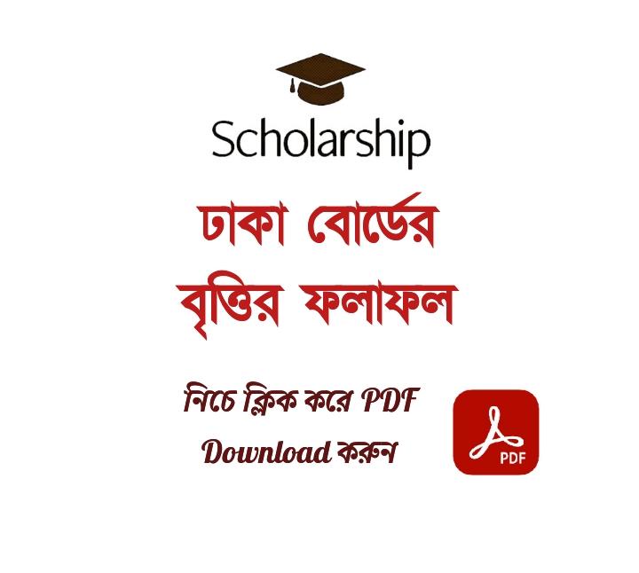 HSC Scholarship Result 2021 Dhaka Board PDF Download