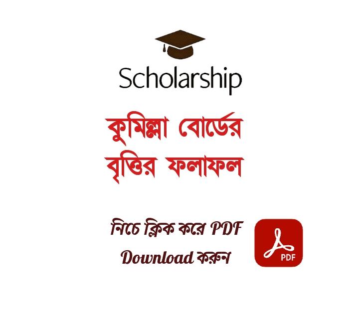 HSC Scholarship Result 2021 Comilla Board PDF Download