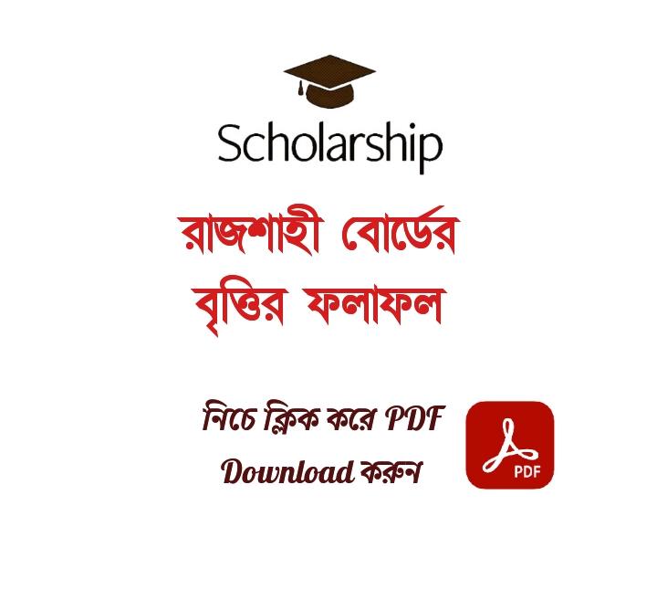 HSC Scholarship Result 2021 Rajshahi Board PDF Download